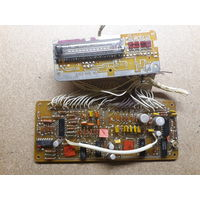 Плата часов и индикатора настройки  от автомобильного радиоприёмника ТОНАР