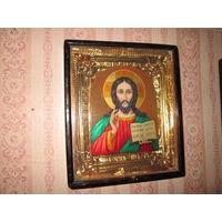 Икона(картина) Спаситель авт.Павел Сладков Федоскино