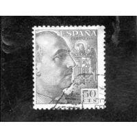 Испания. Ми-833. Генерал Франко с гербом. 1939.