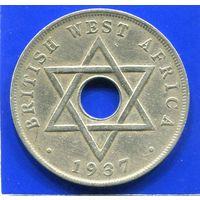 Британская Западная Африка 1 пенни 1937 Н