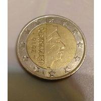 2 евро 2010 Люксембург. Тираж 3 500 000