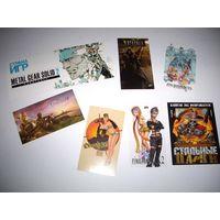 Наклейки из журнала и коллекционная открытка