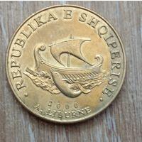 20   леков 2000  Албания  Корабль Либурна