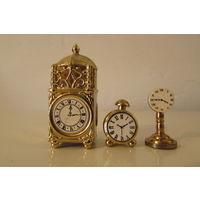 Часы настольные напольные  Миниатюры бронзовые  25 - 60 мм высоты