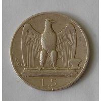 Италия 5 Лир 1927 Серебро (2)