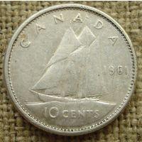 10 центов 1961 Канада