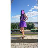 Шикарное платье с пышной юбкой на корсете р. 44-48