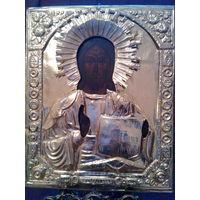 Иисус Христос 19в. сусальное золото 31х25х2