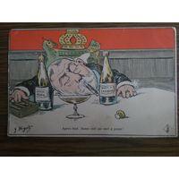 Карикатура на Эдуарда 7-го. Карикатура Бигота.