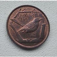 Каймановы острова 1 цент, 1972 1-15-37