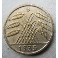 Германия. 10 рейхспфеннигов 1935 D .94