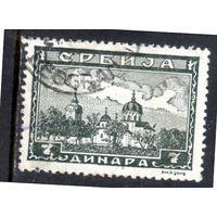 Сербия. Ми-79.Пейзаж - монастырь Жича Серия: монастыри.1942.