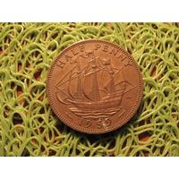 1/2 пенни 1959 Британия KM# 896 бронза 712