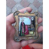 Икона Преподобный Сергий  Финифть