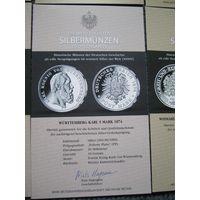 Германия. Копии 12 монет. Серебро 999 проба, 10 грамм