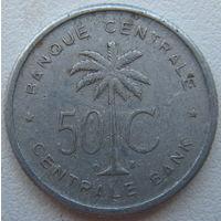 Бельгийское Конго (Руанда - Урунди) 50 сантимов 1955 г.