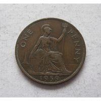 Великобритания 1 пенни 1939 Георг VI