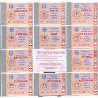 Проездные билеты на транспорт (автобус-троллейбус-метро , Минск) 2013