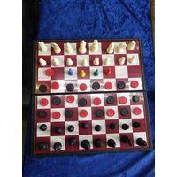 Шахматы, шашки, нарды магнитные.