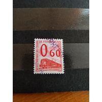 1960 Франция марка оплаты пересылки посылок (пакетов) по железной дороге поезд паровоз Ивер 37 оценка 4,5 евро (2-12)