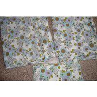 Комплект/ набор семейного постельного белья на двоих: 2 пододеяльника (130см х 192см) и 2 наволочки (75смх75см) (Германия)