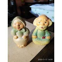 """Две старые резиновые игрушки"""" Старик и Старушка """"СССР."""
