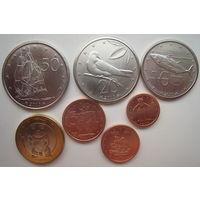 Острова Кука 2010 г. 1-2-5-10-20-50 центов, 1 доллар 2010 г. Цена за комплект (m)