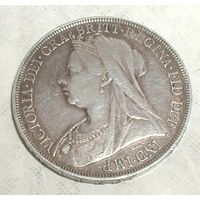 Великобритания 1897. 1 крона. Серебро. Оригинал.