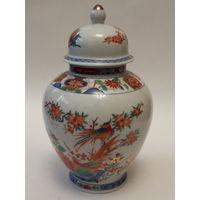 Старинная ваза с птицами фарфор ручная роспись Япония