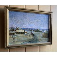 Зимний пейзаж, холст, масло (белорусский художник)
