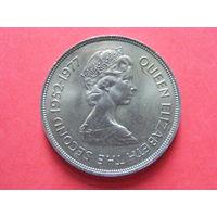 50 пенсов 1977 года (25 лет правления Елизаветы 2)