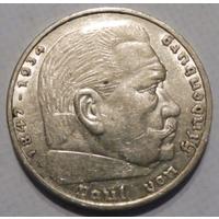 "Германия, 5 марок 1936 год, ""А"""