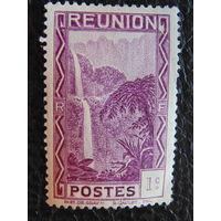 Реюньон, колония Франции 1933г. Водопад.