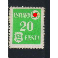 Германия Рейх Оккупация СССР Эстония 1941 Герб Стандарт #2*