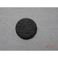 Фальшивый рижский солид Кристины 1660 СУЧАВА Медь