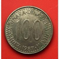 51-05 Югославия, 100 динар 1987 г.