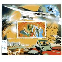Джибути 1981г, транспорт, 1бл.