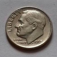 10 центов (дайм) США 1965 г.