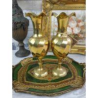 Парные латунные вазы Европа