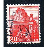 16: Швейцария, почтовая марка, 1936 год, номинал 20с, SG#375A