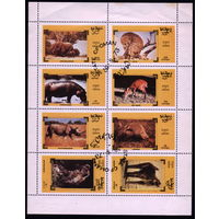 М.л. фауна. Оман 1973. Слон, бегемот, носорог. Гаш.