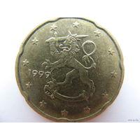 Финляндия 20 евроцентов 1999г.