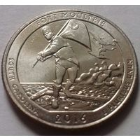 25 центов, квотер США, форт Молтри (штат Южная Каролина), D