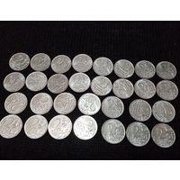 """30 монет, """"2 рубля банка России"""" 2012 год. UNC, полководцы"""