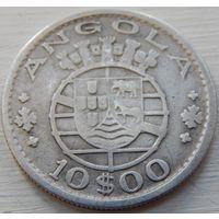 8. Ангола  10 эскудо 1952 год, серебро