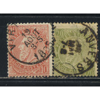 Бельгия Кор 1893 Леопольд II Стандарт #53-4