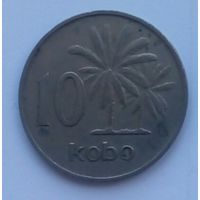 Нигерия 10 кобо 1973