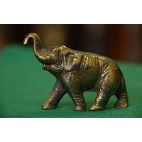 Статуэтка Слон  ( бронза , 5,5 см х 8,5 см )