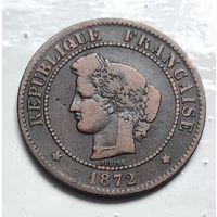 Франция 5 сантимов, 1872 3-12-5