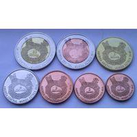 АЦТЕКИ годовой набор 2013 года 7 монет от 1 до 20 сентаво